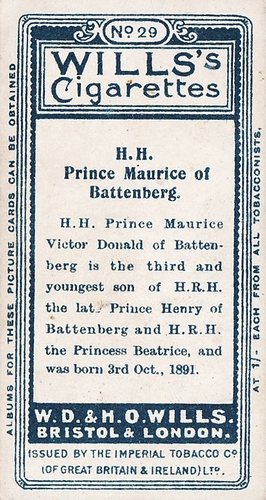 1908 Wills European Royalty #029 (2)