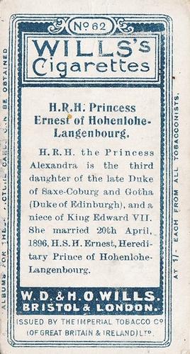 1908 Wills European Royalty #062 (2)