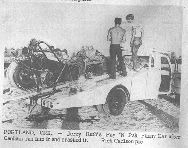 Jerry Ruth 71 Mustang Crash Portland8-18-73DN-RichCarlson