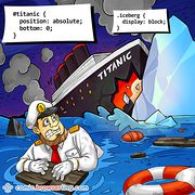 Titanic meets Iceberg - Weekly comic about web developers, software and browsers
