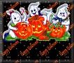 3 Ghosts & pumpkin