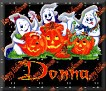 3 Ghosts & pumpkinDonna