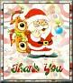 Santa with friendsTaThank You