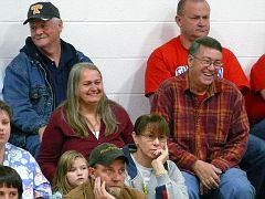 573 - Nancy Sexton and Ricky Lawson at a Basketball game.