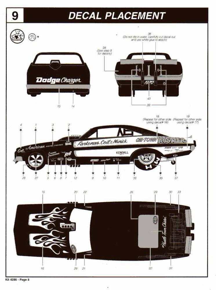 REVELL Chi-Town Hustler '69 Dodge Charger NHRA Funny Car #85-4286
