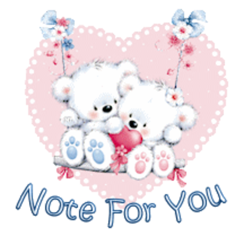 Note For You - ValentineBearsCouple