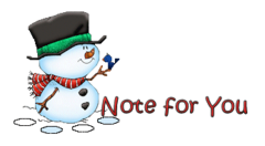 Note for You - Snowman&Bird