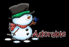 Adorable - Snowman&Bird