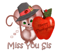 Miss You Sis - ThanksgivingMouse