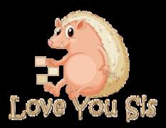Love You Sis - CutePorcupine