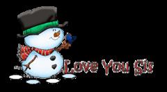 Love You Sis - Snowman&Bird