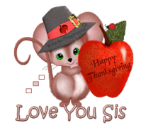 Love You Sis - ThanksgivingMouse