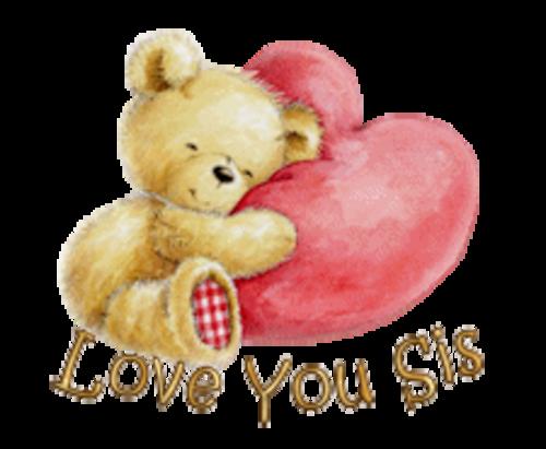 Love You Sis - ValentineBear2016