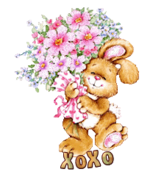 XoXo - BunnyWithFlowers