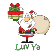 Luv Ya - SantaDeliveringGifts