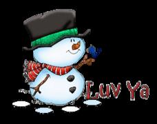 Luv Ya - Snowman&Bird