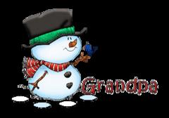 Grandpa - Snowman&Bird
