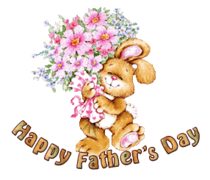 Happy Father's Day - BunnyWithFlowers