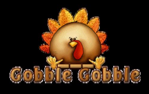 Gobble Gobble - ThanksgivingCuteTurkey
