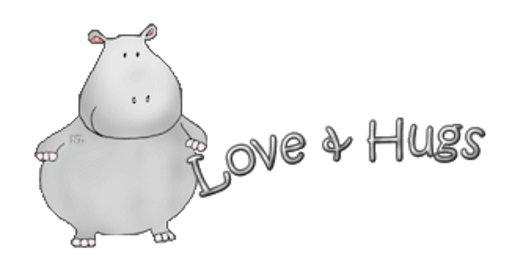 Love & Hugs - CuteHippo2018