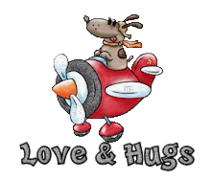 Love & Hugs - DogFlyingPlane