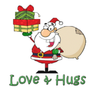 Love & Hugs - SantaDeliveringGifts