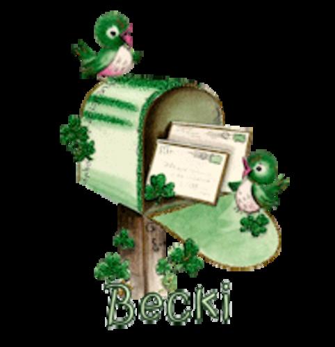 Becki - StPatrickMailbox16