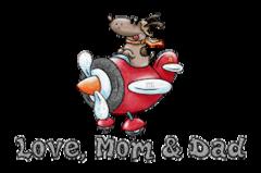 Love, Mom & Dad - DogFlyingPlane