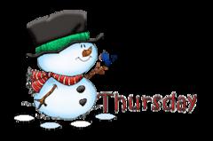 DOTW Thursday - Snowman&Bird