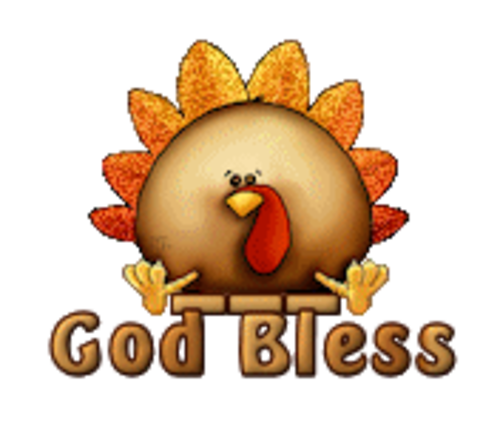 God Bless - ThanksgivingCuteTurkey