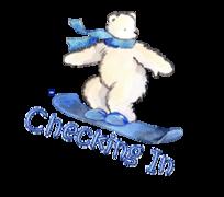 Checking In - SnowboardingPolarBear
