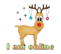 I am online - ChristmasReindeer