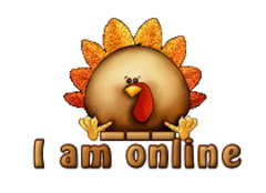 I am online - ThanksgivingCuteTurkey