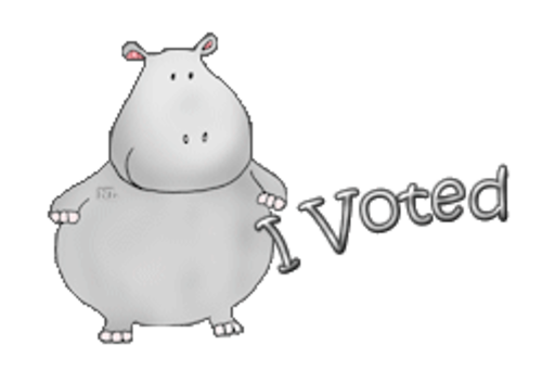 I Voted - CuteHippo2018