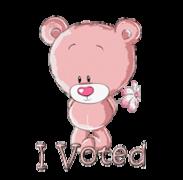 I Voted - ShyTeddy
