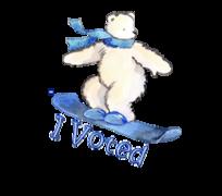 I Voted - SnowboardingPolarBear