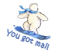 You got mail - SnowboardingPolarBear