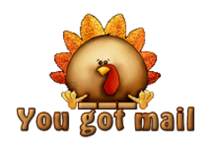 You got mail - ThanksgivingCuteTurkey