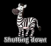 Shutting down - DancingZebra