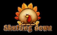 Shutting down - ThanksgivingCuteTurkey