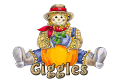 Giggles - AutumnScarecrowSitting