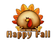 Happy Fall - ThanksgivingCuteTurkey