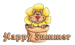 Happy Summer - FlowerPotBear
