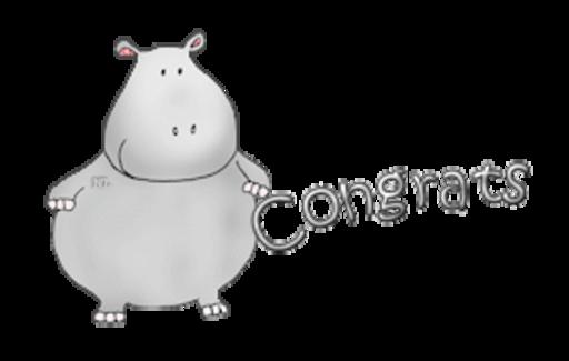 Congrats - CuteHippo2018