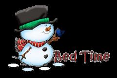 Bed Time - Snowman&Bird