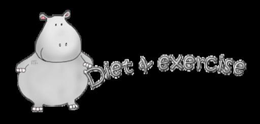 Diet & exercise - CuteHippo2018