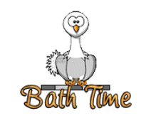 Bath Time - OstrichWithBlinkie