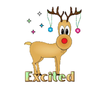 Excited - ChristmasReindeer