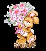 Grumpy - BunnyWithFlowers