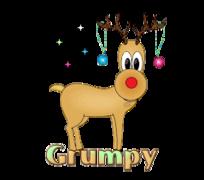 Grumpy - ChristmasReindeer
